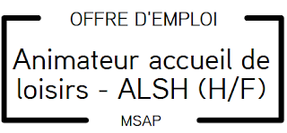 OFFRE D'EMPLOI : ANIMATEURS ACCUEIL DE LOISIRS SANS HEBERGEMENT (A.L.S.H.) CARAMAN (H/F)