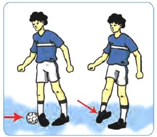 variasi gerak menghentikan bola