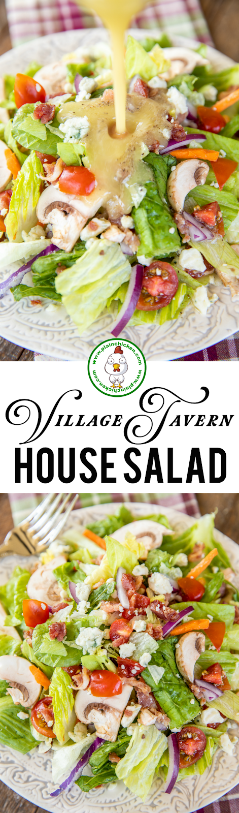 collage of 2 photos of a salad