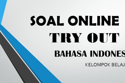 Soal online Try Out Bahasa Indonesia Kelas 6 terbaru