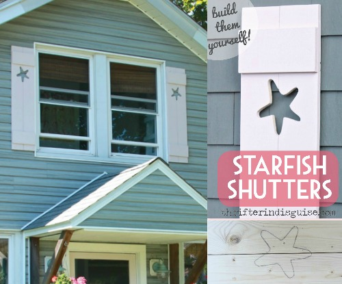 how to build decorative shutters with cutouts of starfish completely