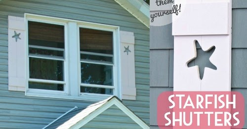 how to build decorative shutters with cutouts of starfish completely coastal - Decorative Shutters