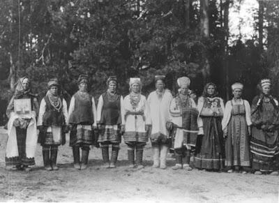 Η υποδοχή του Τσάρου από τους χωρικούς της Μορδοβίας.