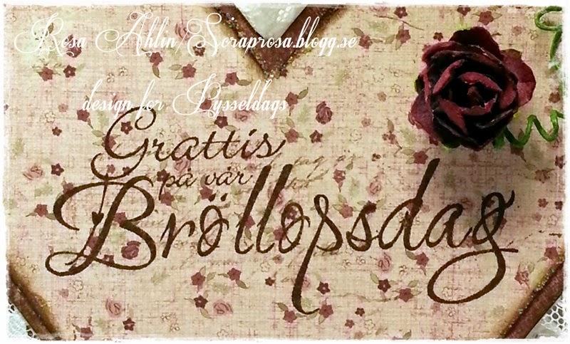 gratulationer på bröllopsdagen Pysseldags: Hjärtformad ktill bröllopsdagen gratulationer på bröllopsdagen