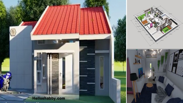 Desain Dan Denah Rumah 8 X 10 Meter Dengan 3 Kamar Tidur Terlihat Simpel Tapi Nyaman Helloshabby Com Interior And Exterior Solutions