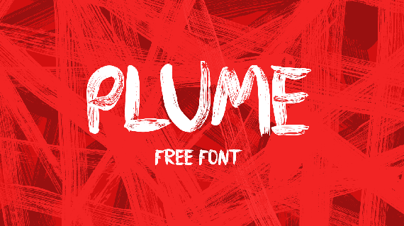 plume free brust style font