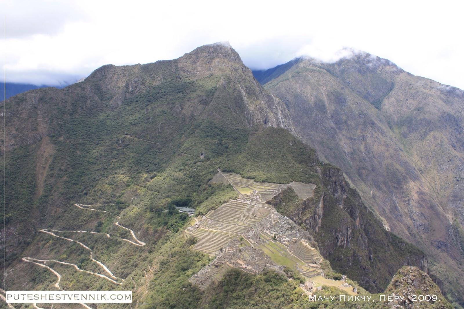Вид на Мачу-Пикчу с горы Вайна-Пикчу