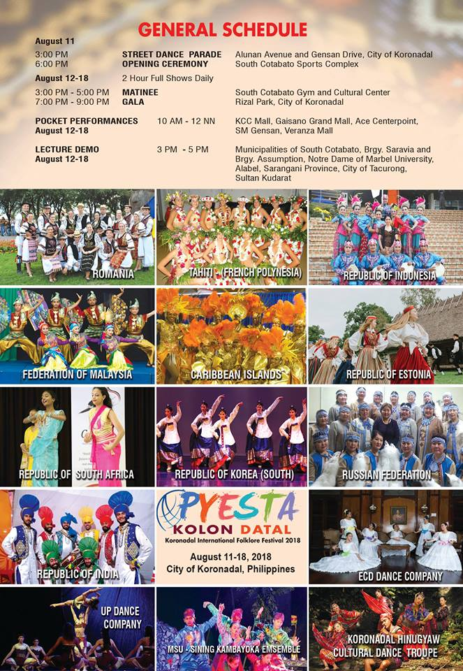 Pyesta Kolon Datal, Koronadal International Folklore Festival 2018