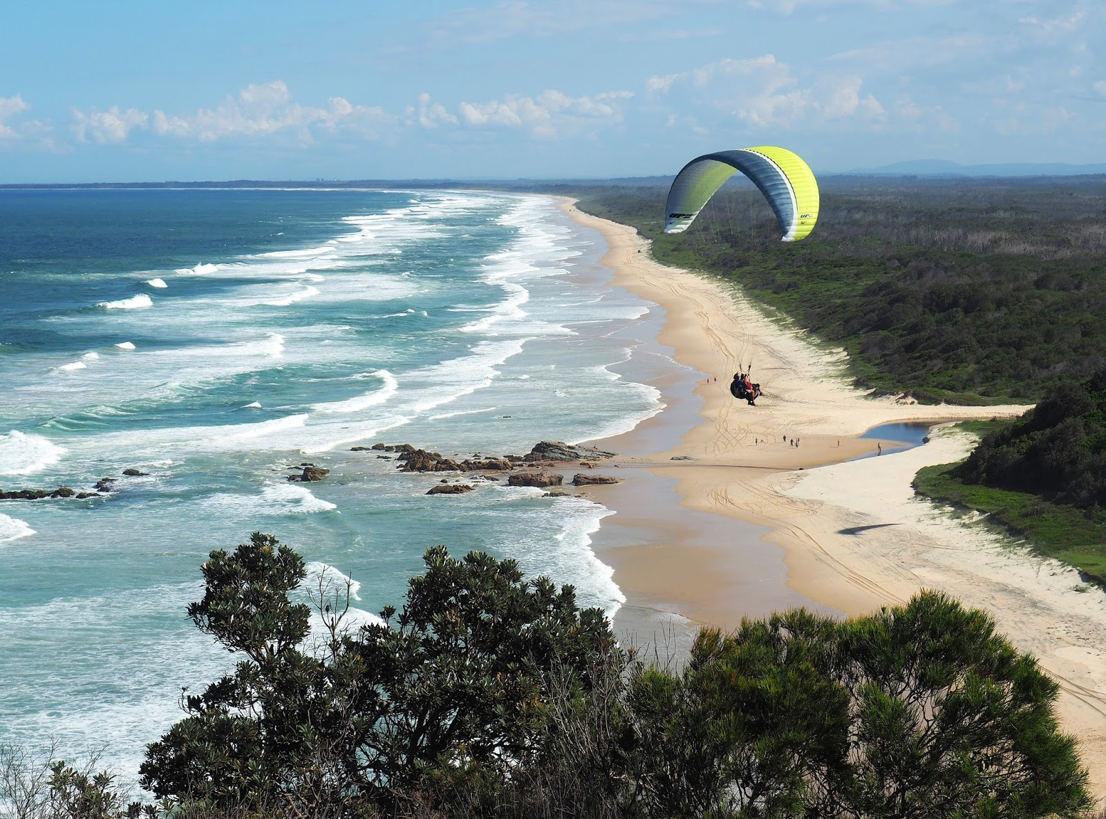 Paragliders Crowdy Bay National Park
