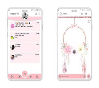 Aero Flowers Theme For YOWhatsApp & Fouad WhatsApp By Mary Silva