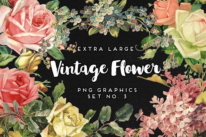 Extra HD Best Selling Vintage Flower Graphics Mega Bundle