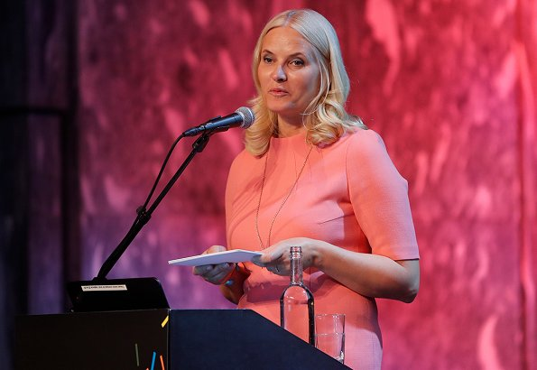 Crown Princess Mette-Marit attended NORLA conference at Sentralen culture center. Crown Princess was elected as Norway's literature representative for Frankfurt Book Fair