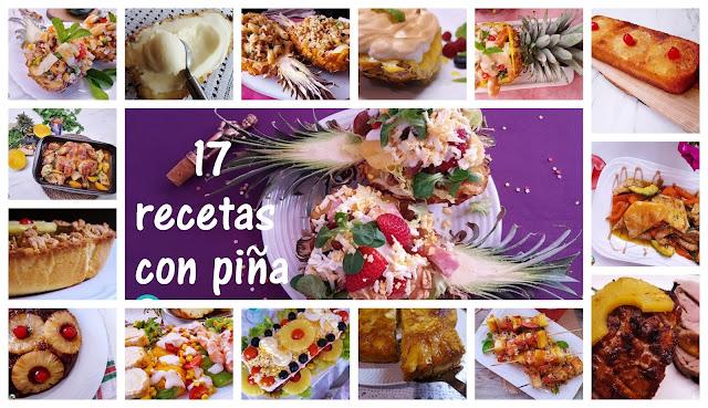 17 recetas con piña tropical