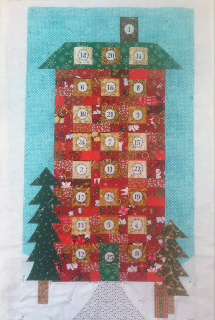 Advent Calendar Wall Hanging Ready to Quilt
