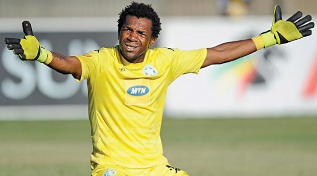 Cameroon goalkeeper Patrick Tignyemb