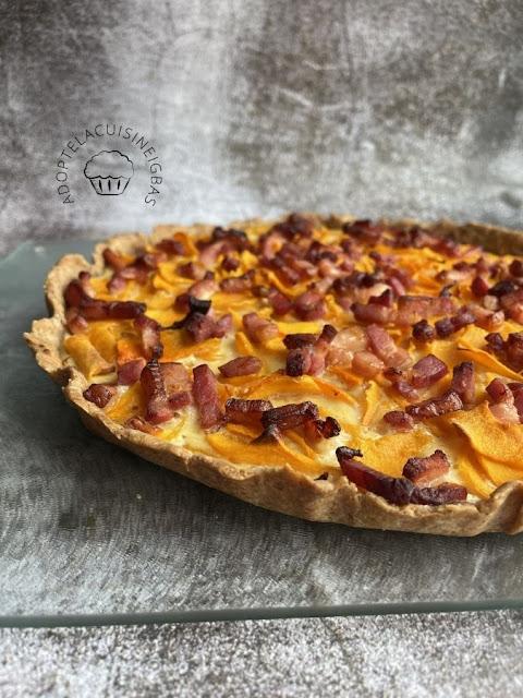 Tarte butternut lardons - IG bas