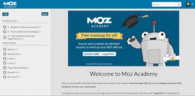 Moz Academy Interface