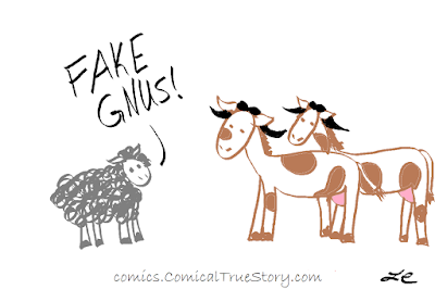 Sheep to cows wearing wildebeest horns: Fake Gnus!