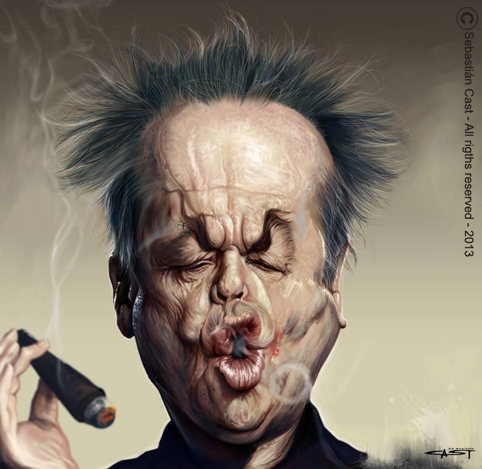 Jack Nicholson por Sebastián Cast