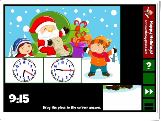 http://www.mathplayground.com/holiday_puzzle_pics_clocks.html