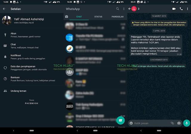 Cara Mengaktifkan WhatsApp Dark Mode - Tech Hijau.my.id (Tampilan)