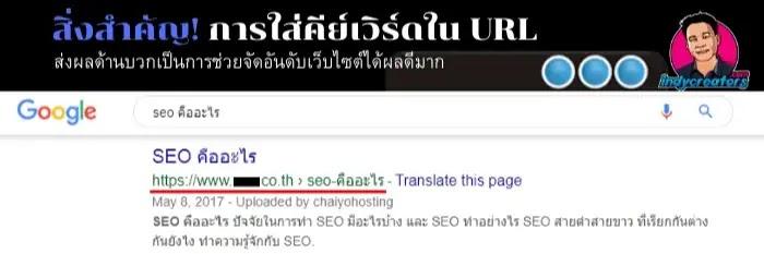 keyword ใน URL เป็นอัลกอริทึม google