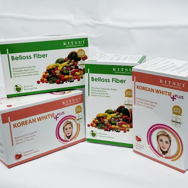 Kitsui Belloss Fiber dan Korean Whitie + Plus