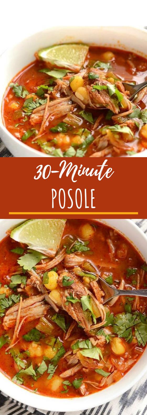 30 Minute Posole #dinner #recipe