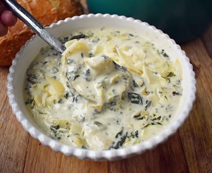 Creamy Spinach Artichoke Soup