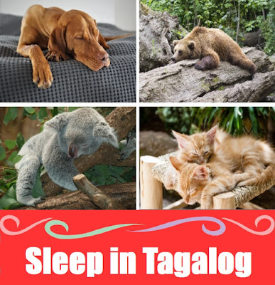 Sleep Word List in Tagalog