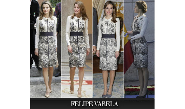 Queen Letizia's Felipe Varela Dress