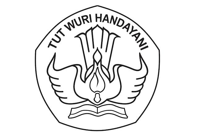 Logo Tut Wuri Handayani Warna Hitam Putih File JPG