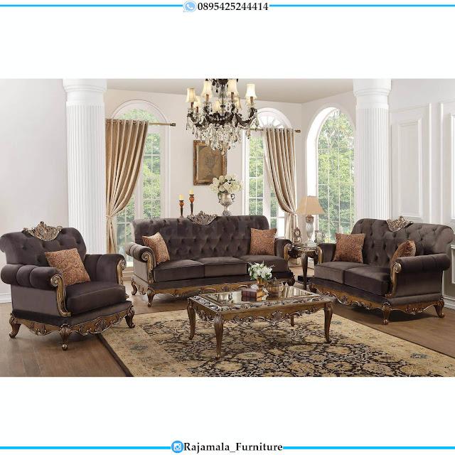Sofa Ruang Tamu Mewah Jepara Classic Luxury High Quality RM-0520