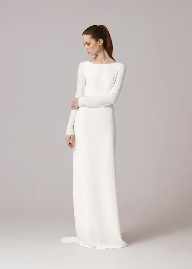 Modest Wedding Dress Simple Long Sleeves | Brides Bridal Ideas