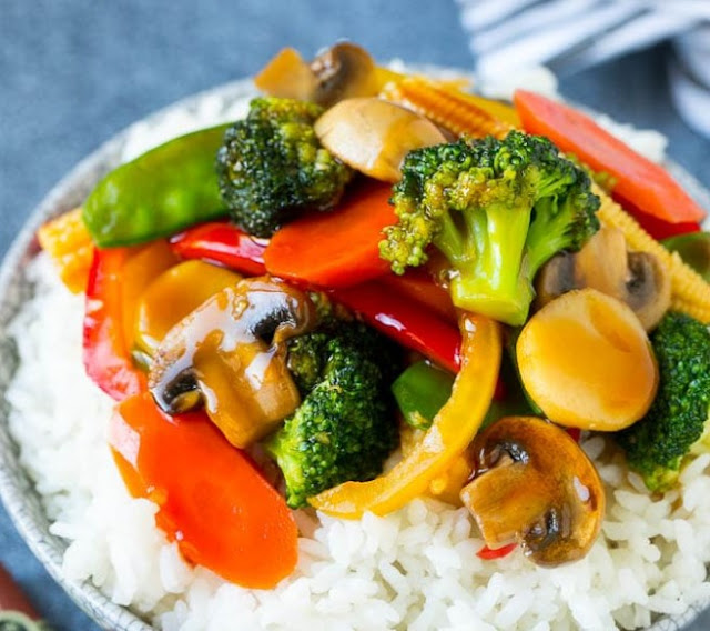 STIR FRY VEGETABLES #vegetarian #vegan