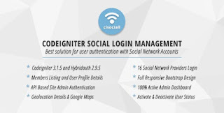 Cisociall - Codeigniter Social Login Management - Download