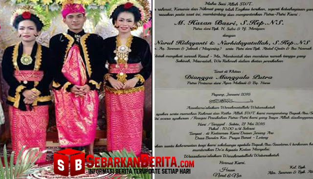 Heboh Di Lombok , Seorang Pria Nikahi Dua Gadis Sekaligus , Kado Malam Pertamanya Bikin Netizen Penasaran.
