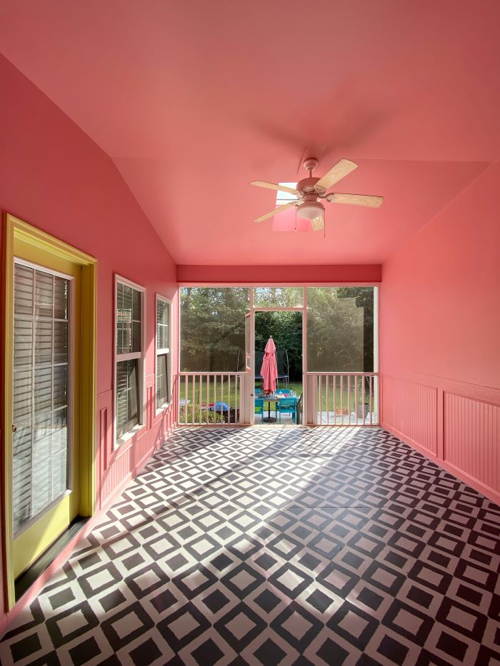 Our Porch Refresh: The Power Of Paint-porch after-#porch #color-designaddictmom