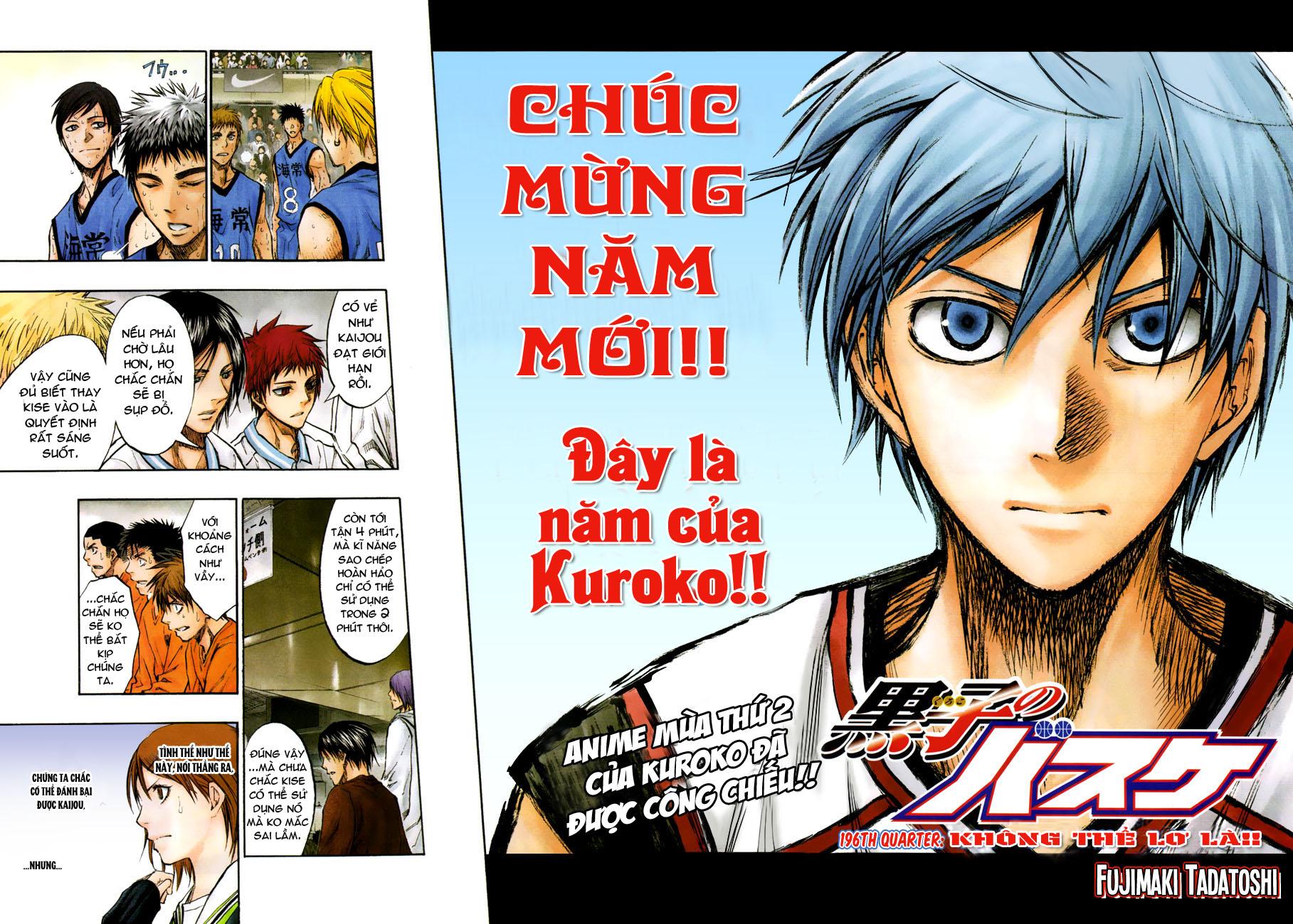 Kuroko No Basket chap 196 trang 2