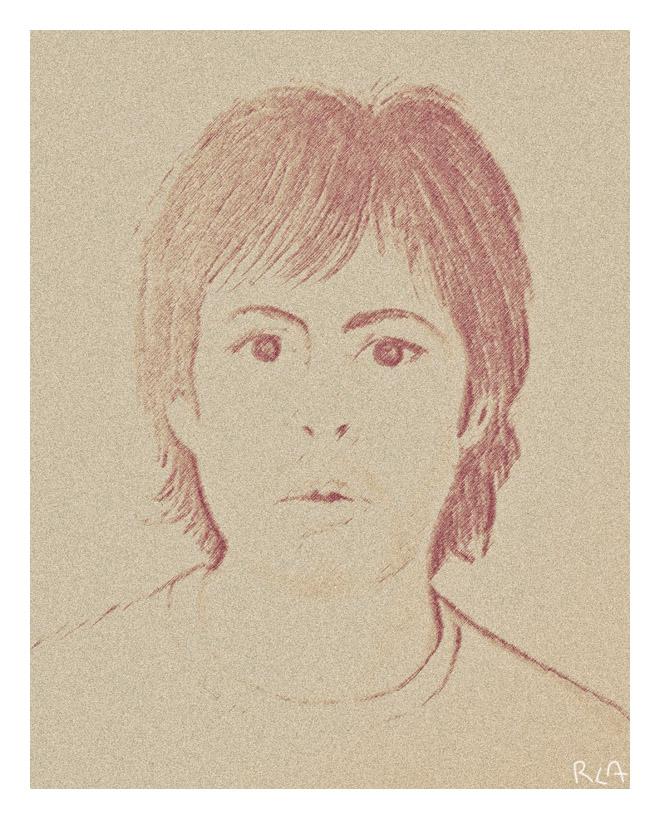 Paul McCartney en 1980. Dibujo de Rodrigo L. Alonso