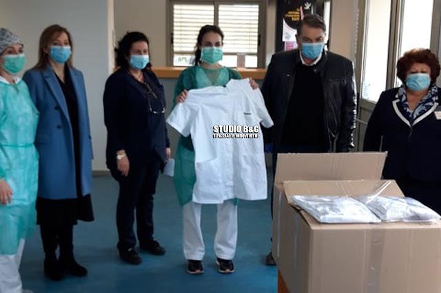 40 στολές για το νοσηλευτικό προσωπικό του Νοσοκομείου Άργους παρέδωσε ο Δ. Καμπόσος