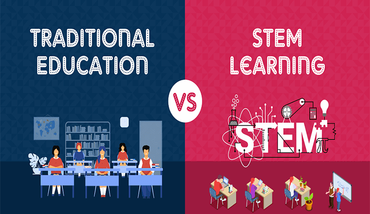 Traditional Education vs STEM Learning #infographic