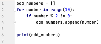 Create a list with odd numbers