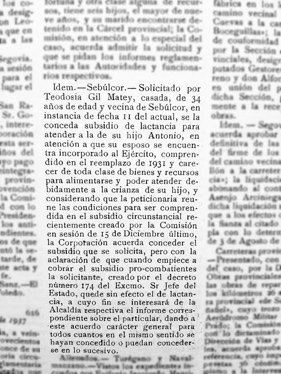 anuncio del Ayuntamiento de Sebúlcor