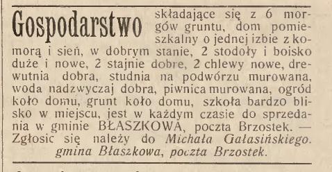 Błażkowa 1903