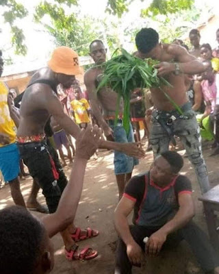 PHOTOS: Youths Flog Pastor Mercilessly For Adultery With Church Members
