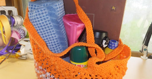 How to Knit a Summer Beach Tote