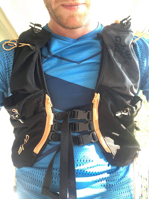 NVRSTP pack from the front on Matt. Tightly fitting body. Many pockets around