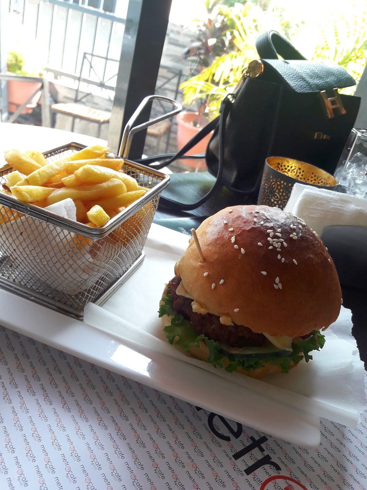 Lunch, Metro Cafe Abuja, Burgers, french fries, Abuja living