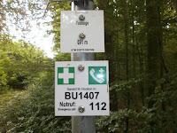 Wegweiserstandorte im Verlauf des Premium-Wanderwegs Hohenwittlingensteig bei Bad Urach